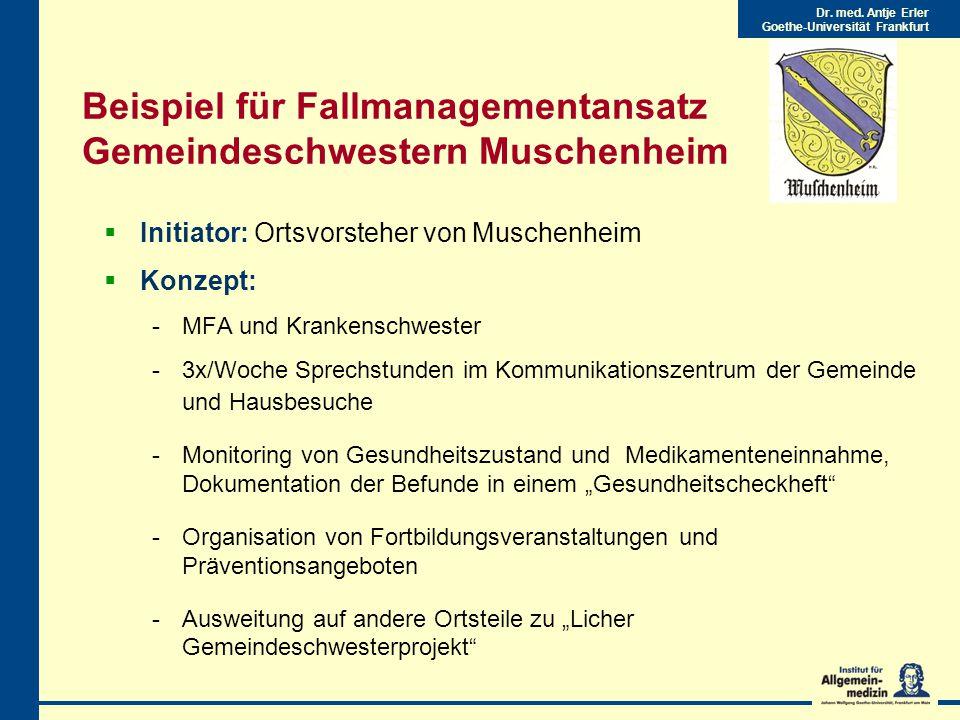Beispiel für Fallmanagementansatz Gemeindeschwestern Muschenheim