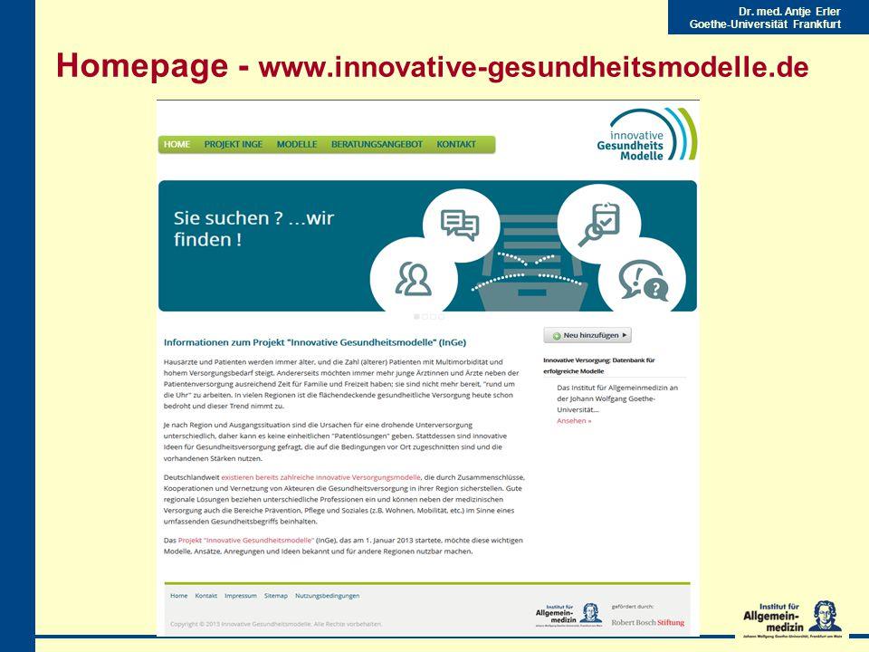 Homepage - www.innovative-gesundheitsmodelle.de