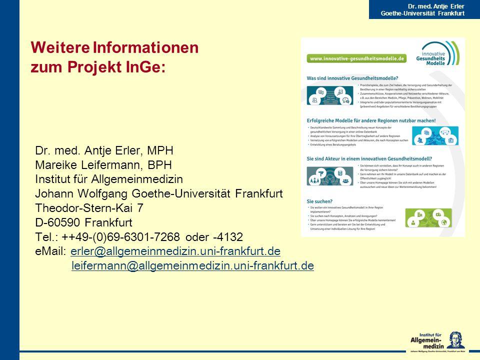 Weitere Informationen zum Projekt InGe: