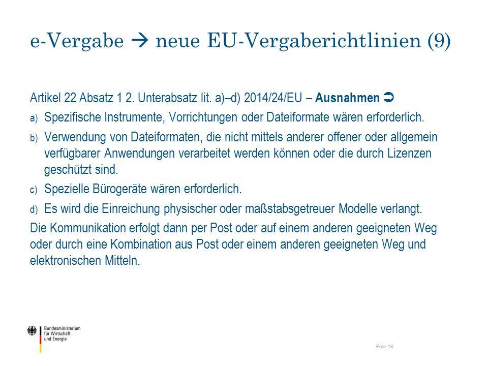 e-Vergabe  neue EU-Vergaberichtlinien (9)