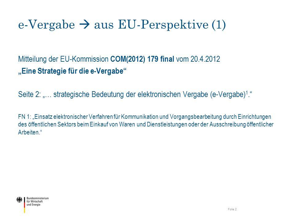 e-Vergabe  aus EU-Perspektive (1)