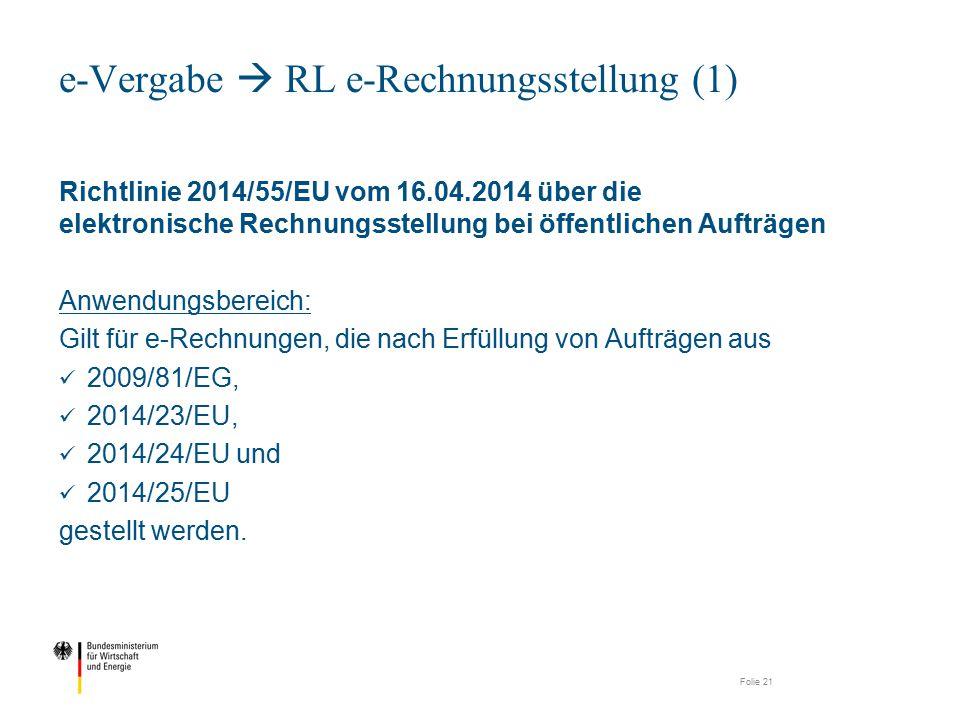 e-Vergabe  RL e-Rechnungsstellung (1)