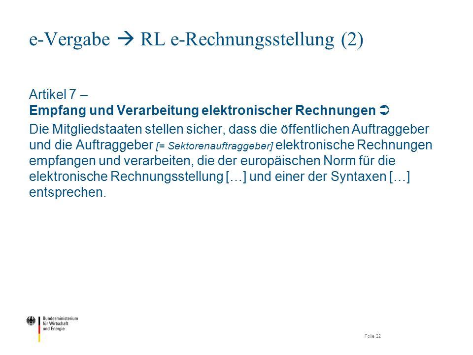 e-Vergabe  RL e-Rechnungsstellung (2)