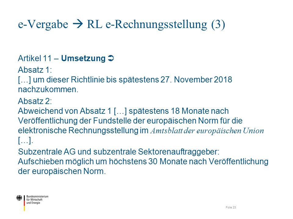 e-Vergabe  RL e-Rechnungsstellung (3)