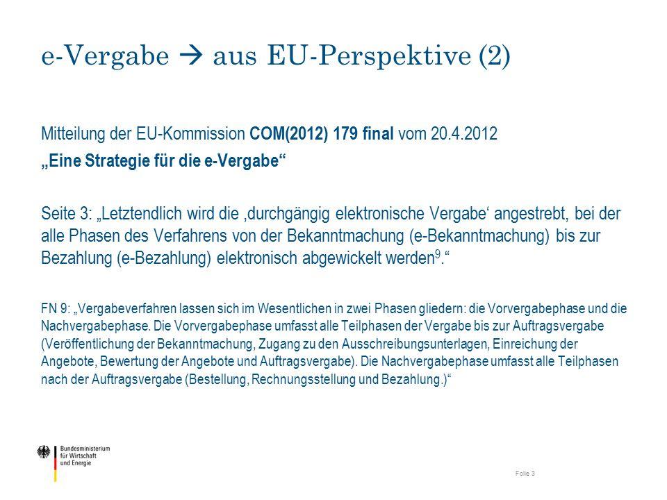 e-Vergabe  aus EU-Perspektive (2)