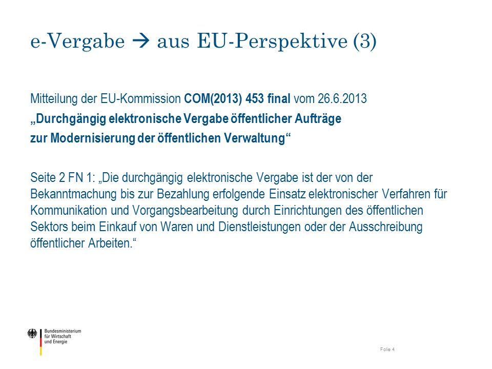 e-Vergabe  aus EU-Perspektive (3)