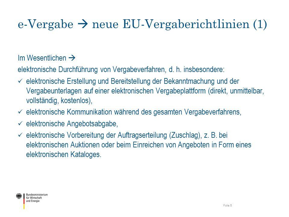 e-Vergabe  neue EU-Vergaberichtlinien (1)