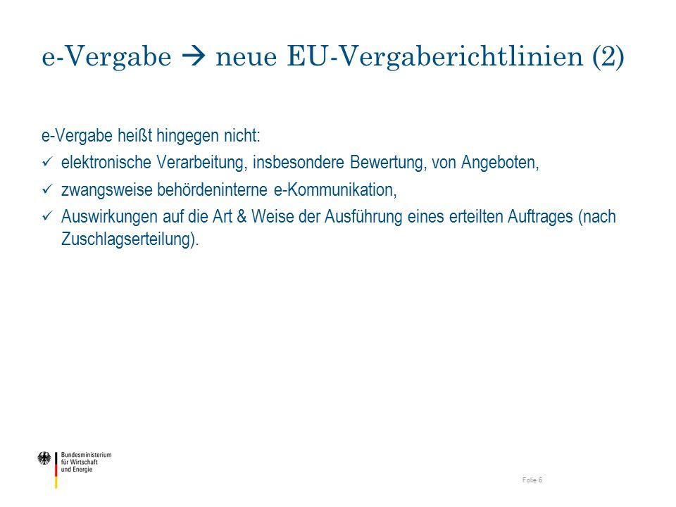 e-Vergabe  neue EU-Vergaberichtlinien (2)