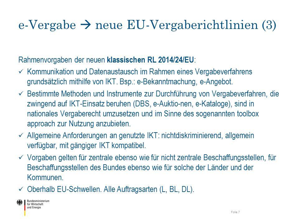 e-Vergabe  neue EU-Vergaberichtlinien (3)