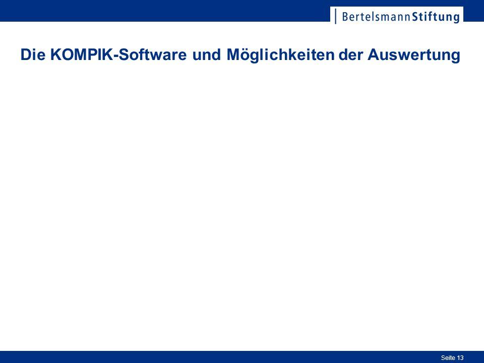 Die KOMPIK-Software und Möglichkeiten der Auswertung