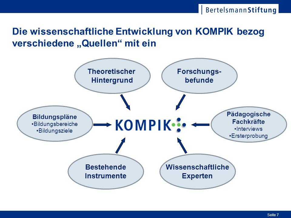 """Die wissenschaftliche Entwicklung von KOMPIK bezog verschiedene """"Quellen mit ein"""