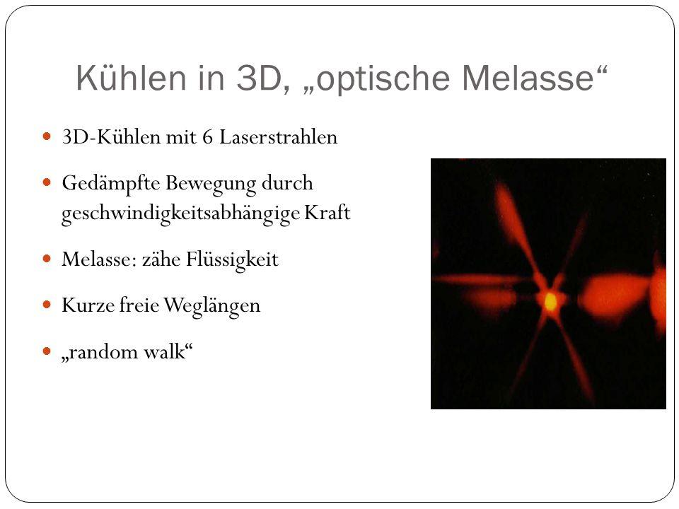 """Kühlen in 3D, """"optische Melasse"""