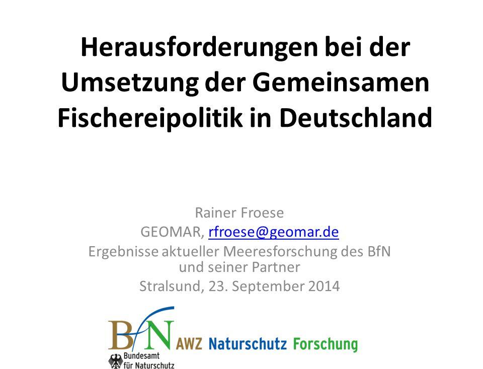 Herausforderungen bei der Umsetzung der Gemeinsamen Fischereipolitik in Deutschland