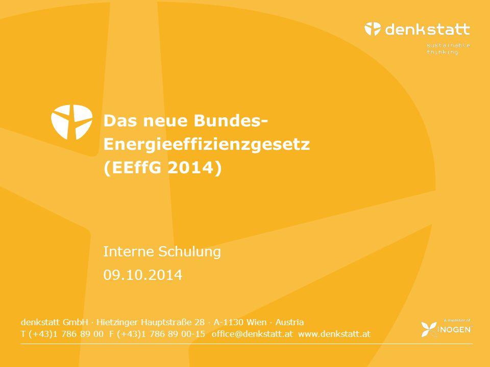 Das neue Bundes-Energieeffizienzgesetz (EEffG 2014)