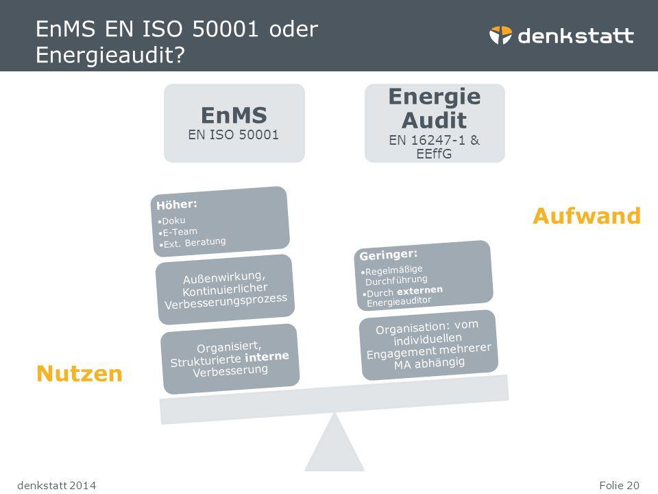 EnMS EN ISO 50001 oder Energieaudit EnMS EN ISO 50001