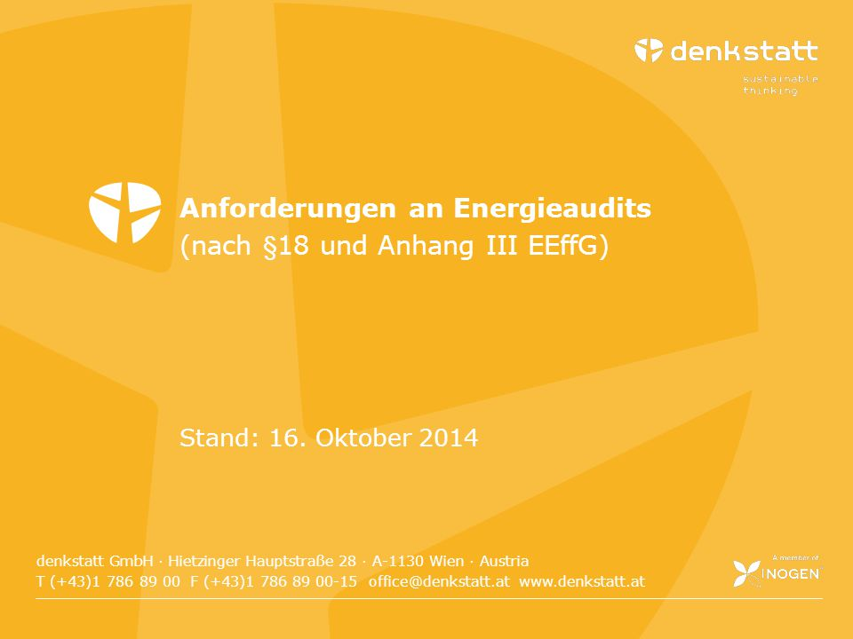 Anforderungen an Energieaudits (nach §18 und Anhang III EEffG)