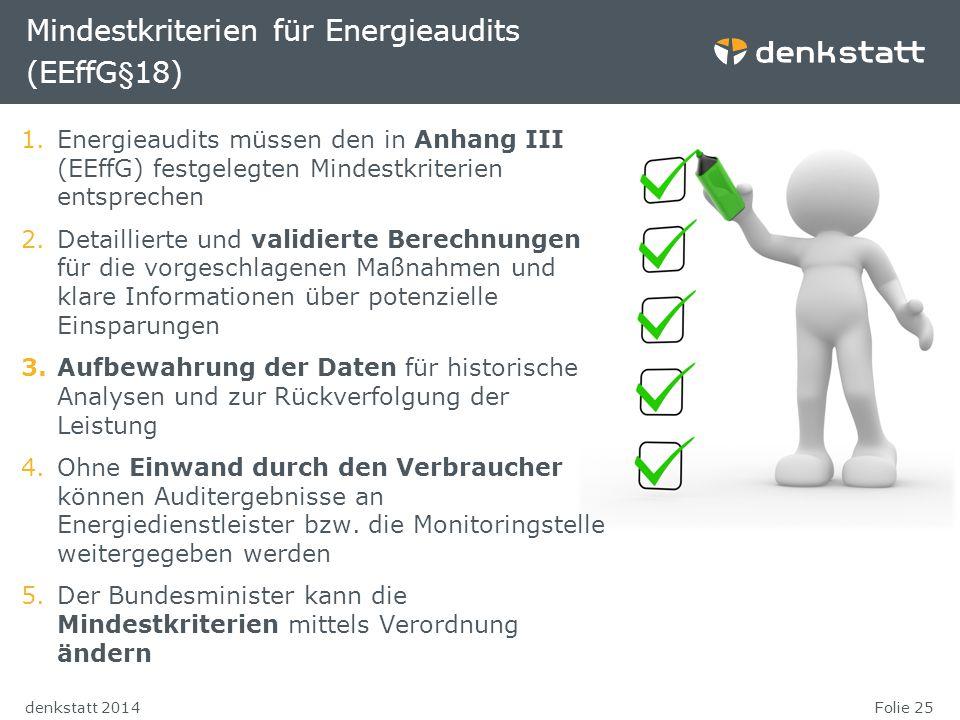 Mindestkriterien für Energieaudits (EEffG§18)