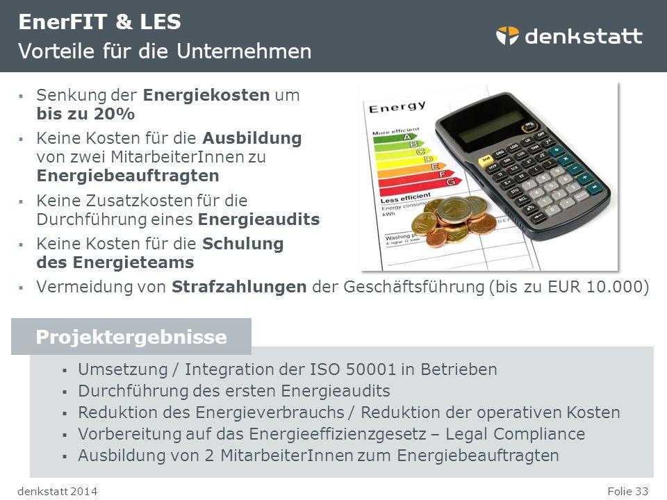 EnerFIT & LES Vorteile für die Unternehmen