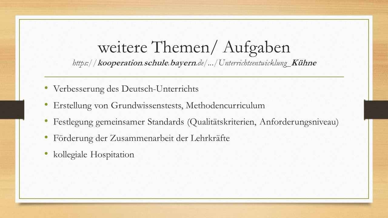 weitere Themen/ Aufgaben https://kooperation. schule. bayern. de/
