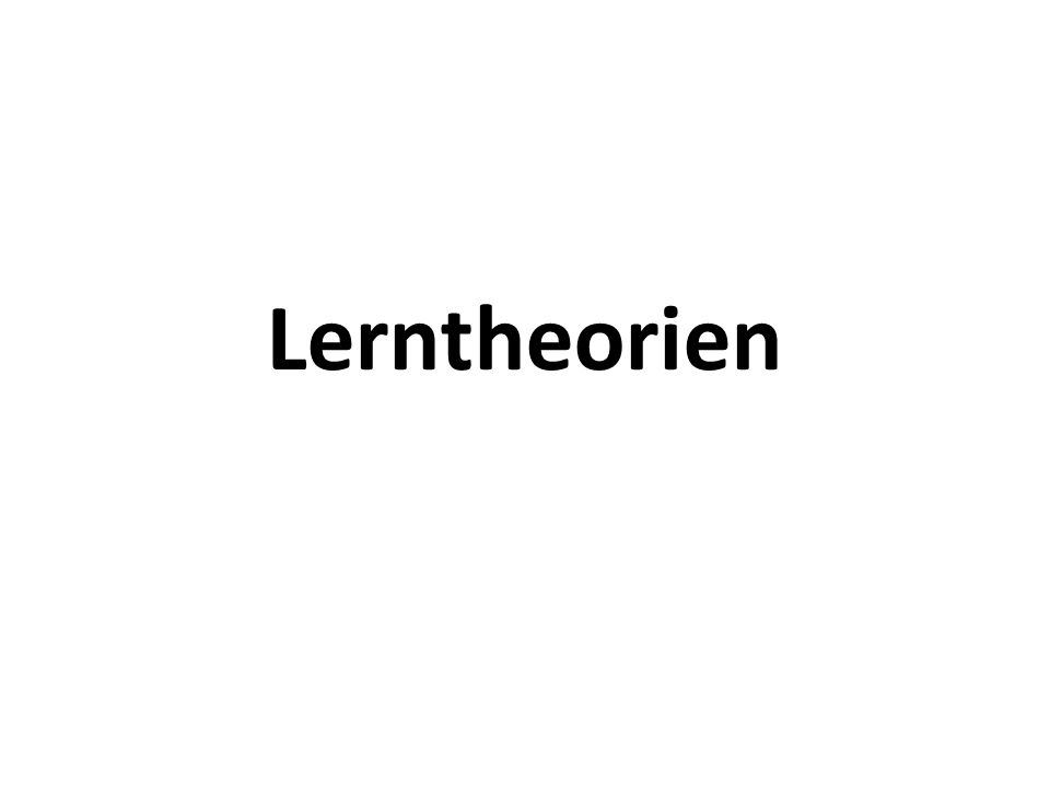 Lerntheorien
