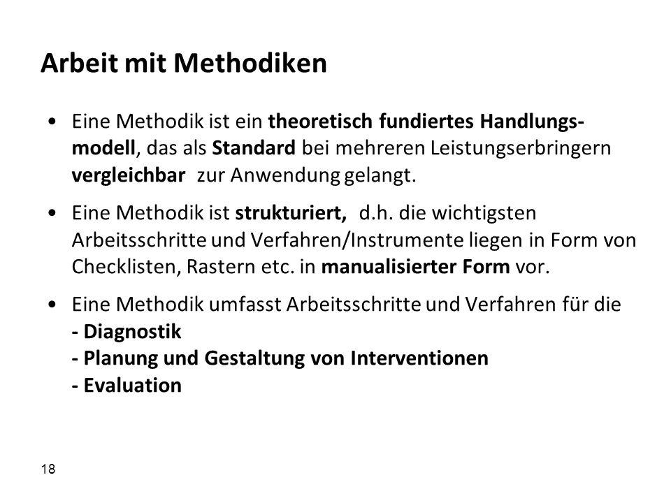Arbeit mit Methodiken