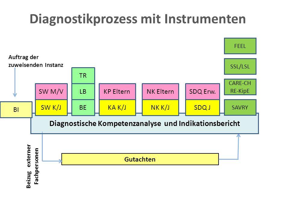Diagnostikprozess mit Instrumenten