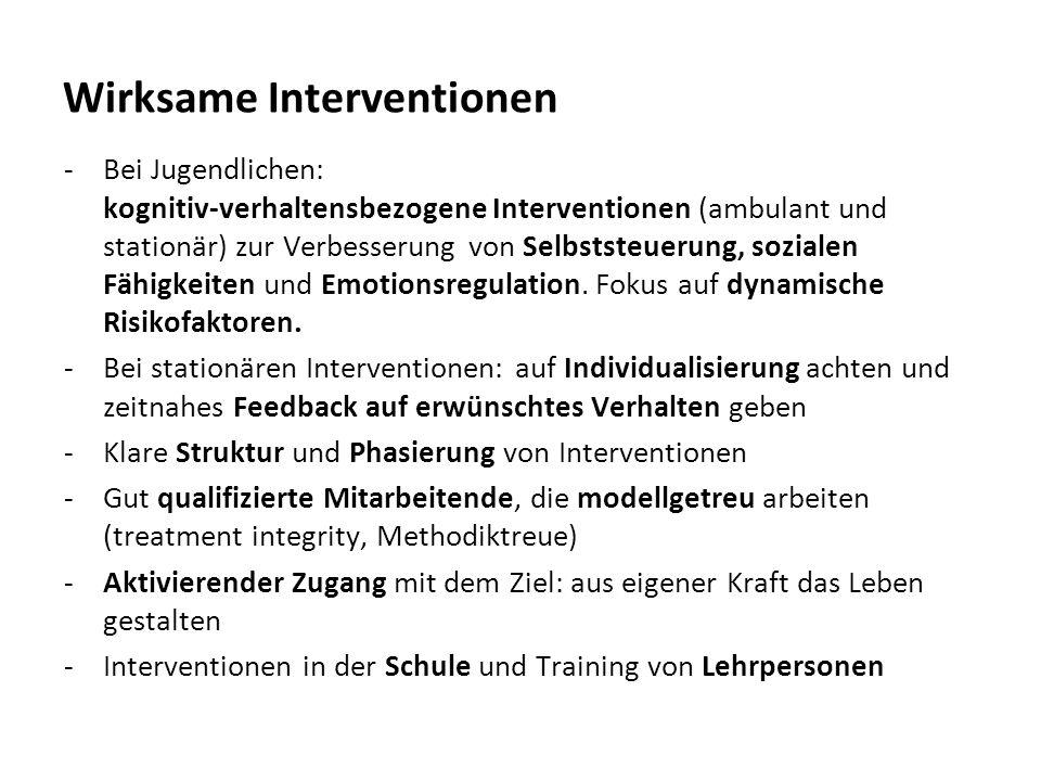 Wirksame Interventionen