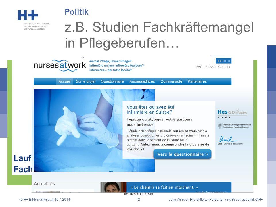 z.B. Studien Fachkräftemangel in Pflegeberufen…