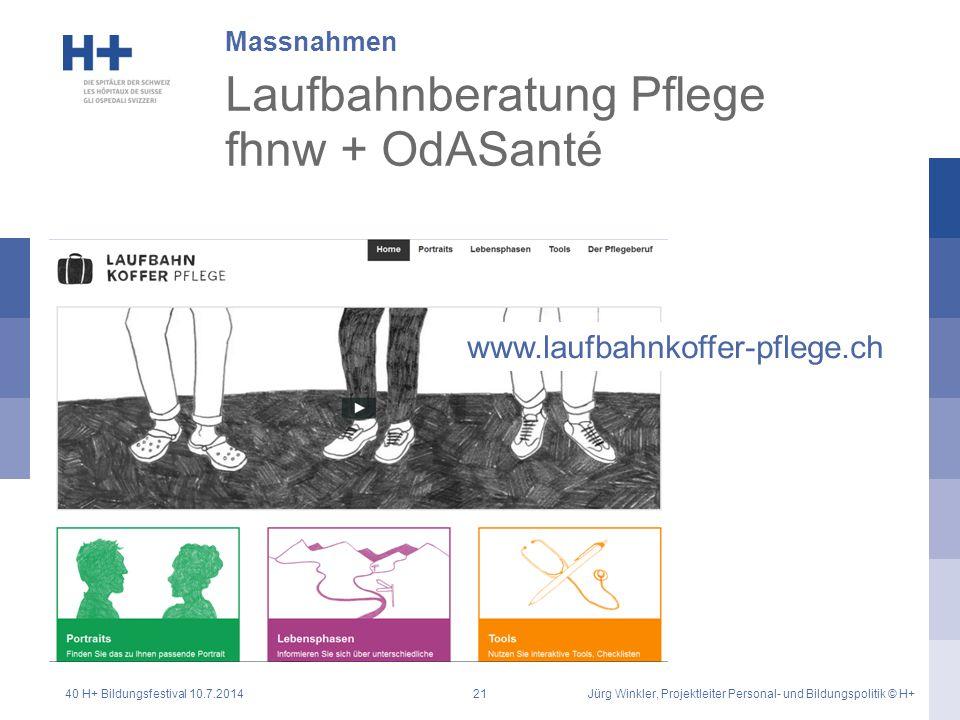 Laufbahnberatung Pflege fhnw + OdASanté