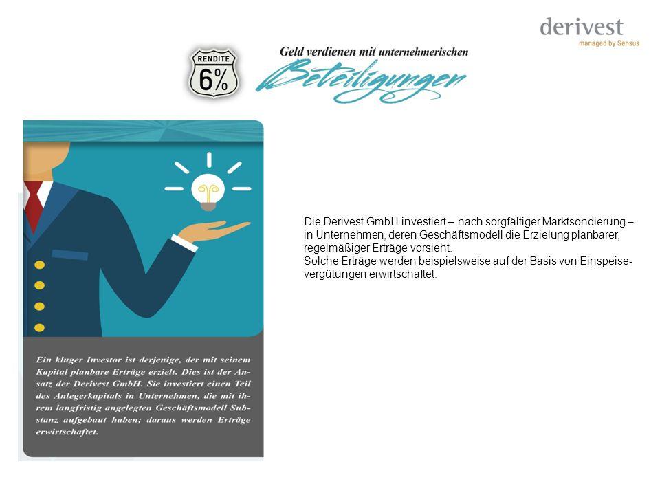 Die Derivest GmbH investiert – nach sorgfältiger Marktsondierung –