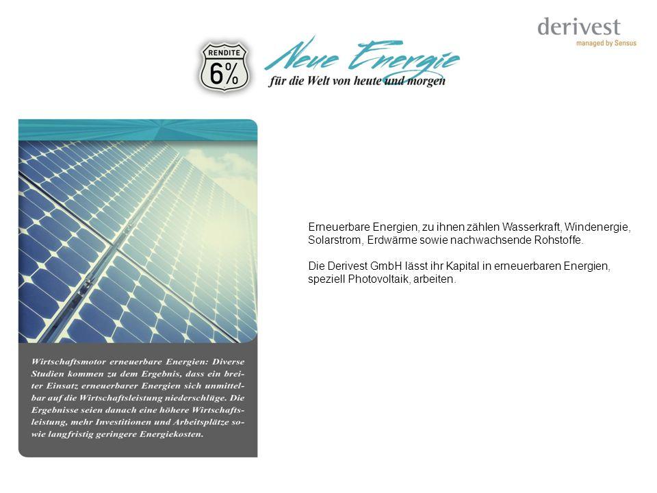 Erneuerbare Energien, zu ihnen zählen Wasserkraft, Windenergie,