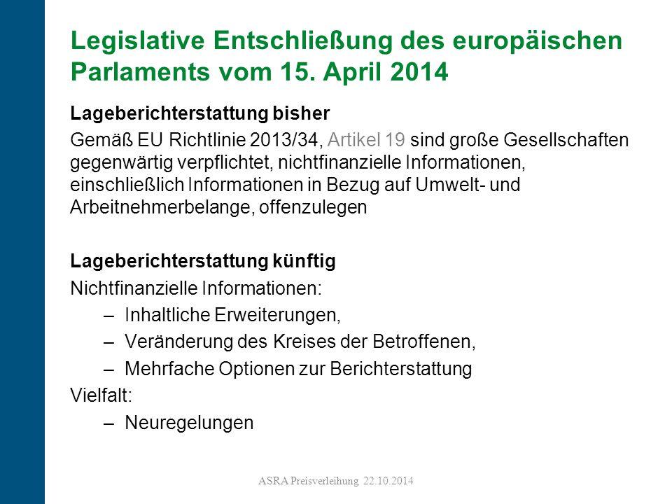Legislative Entschließung des europäischen Parlaments vom 15