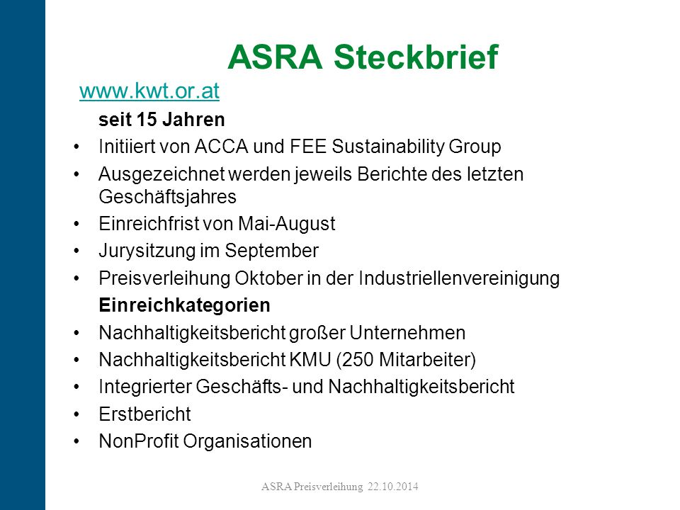 ASRA Steckbrief www.kwt.or.at