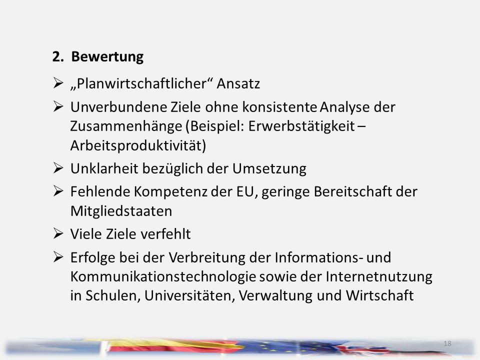 """2. Bewertung """"Planwirtschaftlicher Ansatz."""