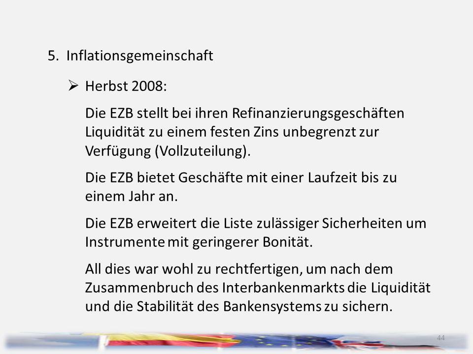 5. Inflationsgemeinschaft