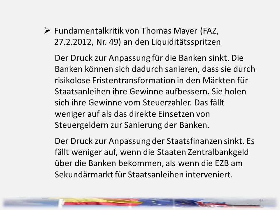 Fundamentalkritik von Thomas Mayer (FAZ, 27. 2. 2012, Nr