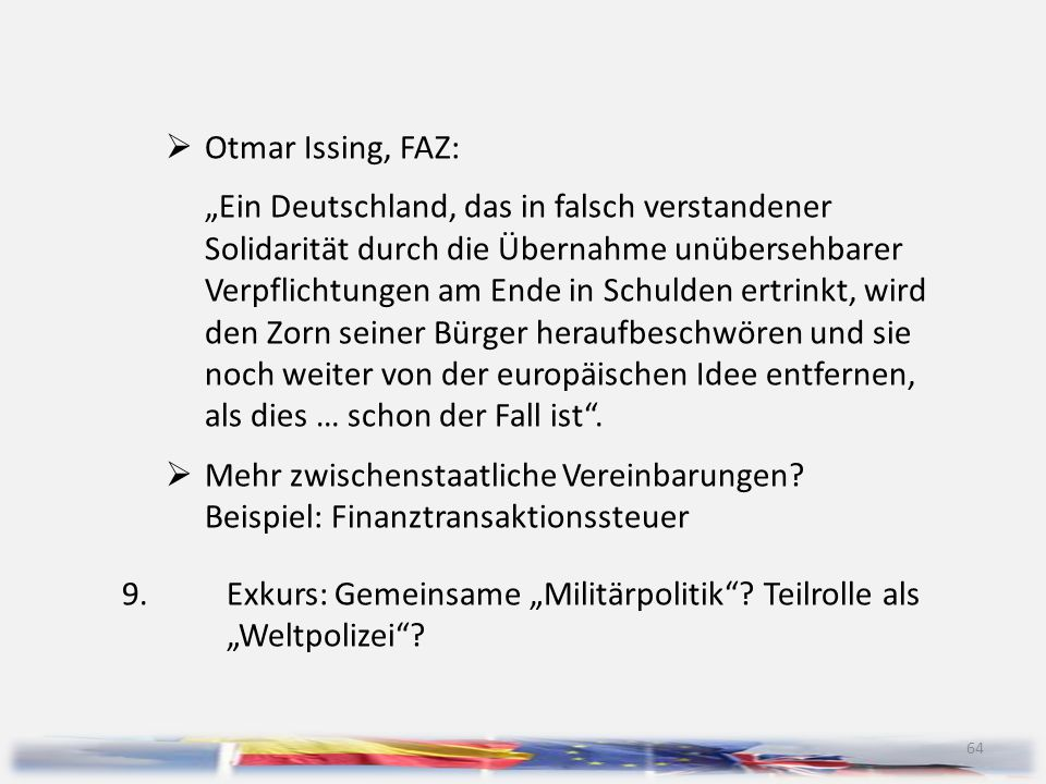 Otmar Issing, FAZ: