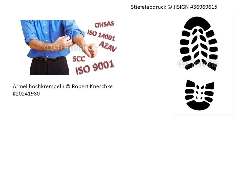 ISO 9001 AZAV SCC OHSAS ISO 14001 Stiefelabdruck © JiSIGN #36969615