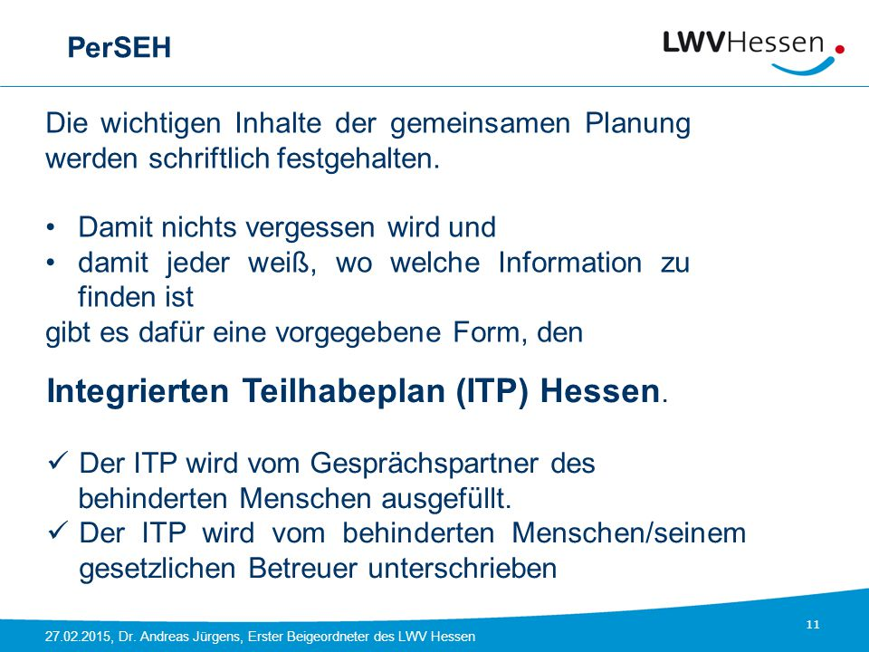 Integrierten Teilhabeplan (ITP) Hessen.