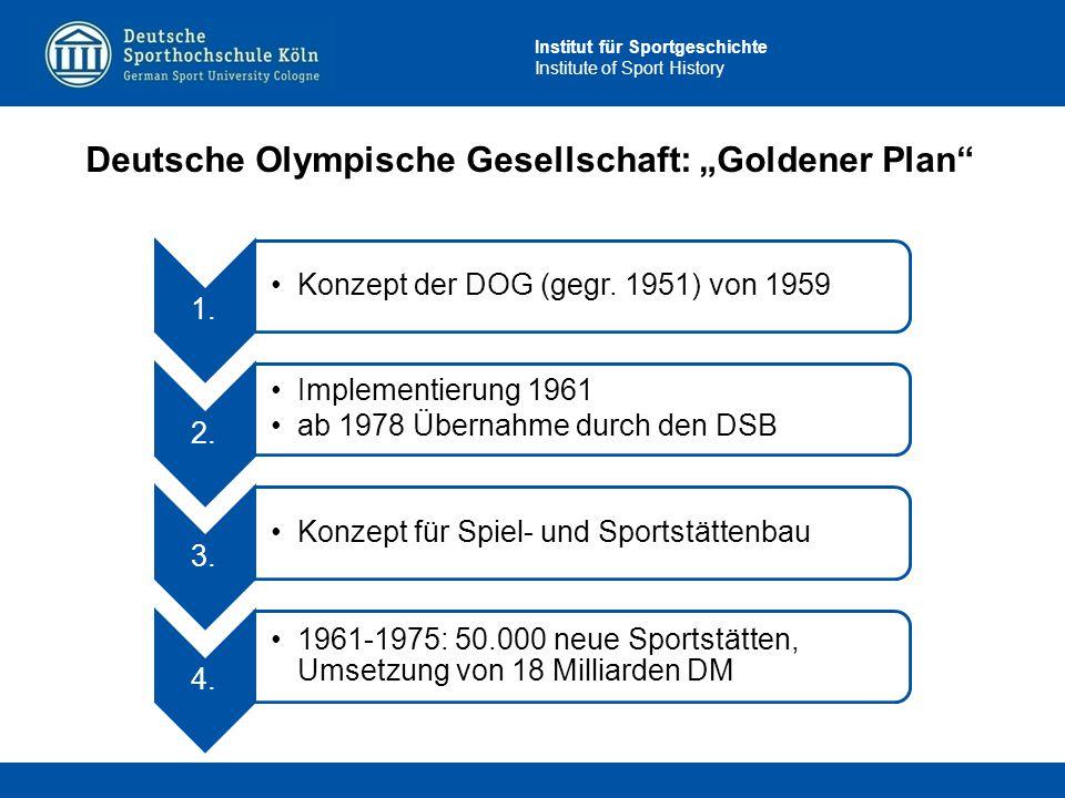 "Deutsche Olympische Gesellschaft: ""Goldener Plan"
