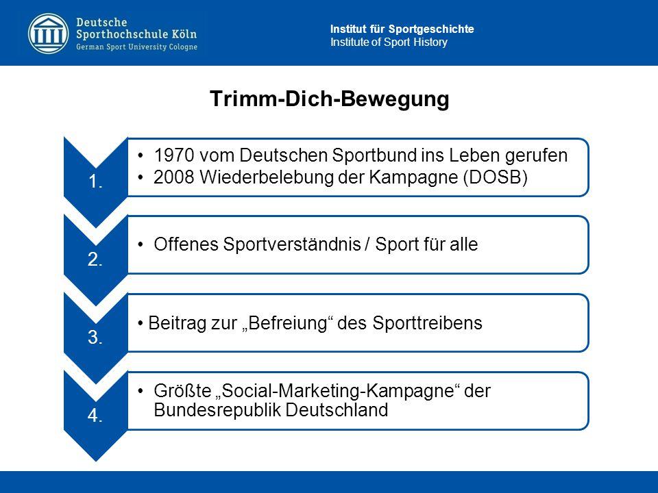 Trimm-Dich-Bewegung 1. 1970 vom Deutschen Sportbund ins Leben gerufen