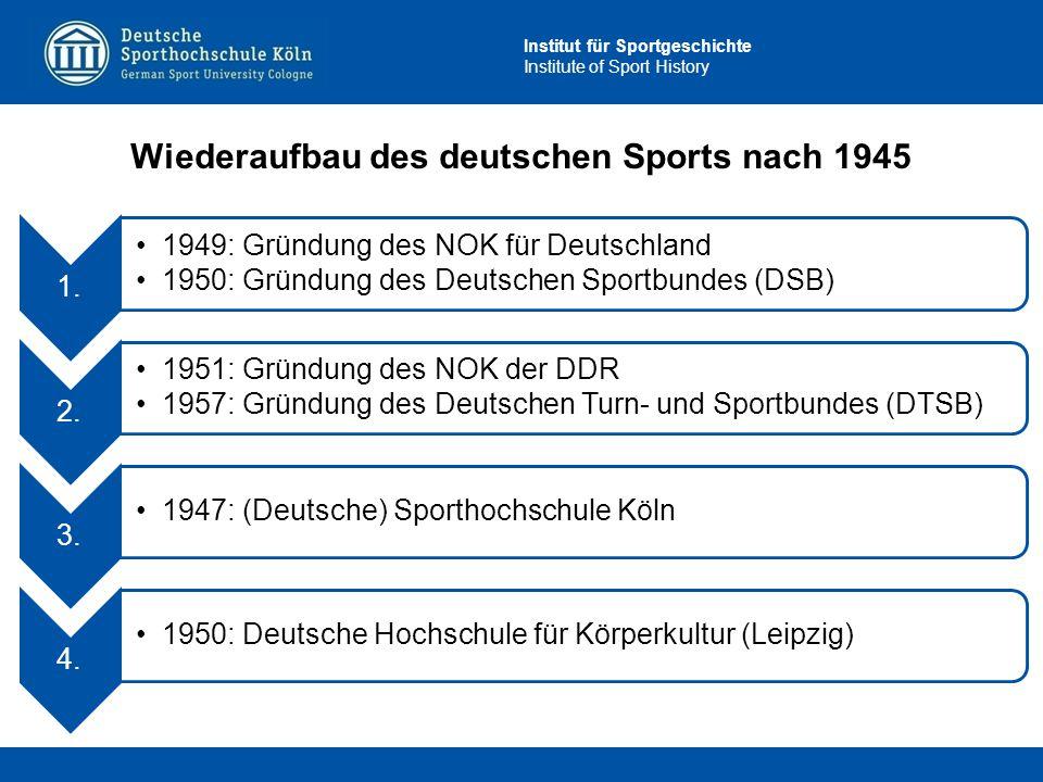 Wiederaufbau des deutschen Sports nach 1945