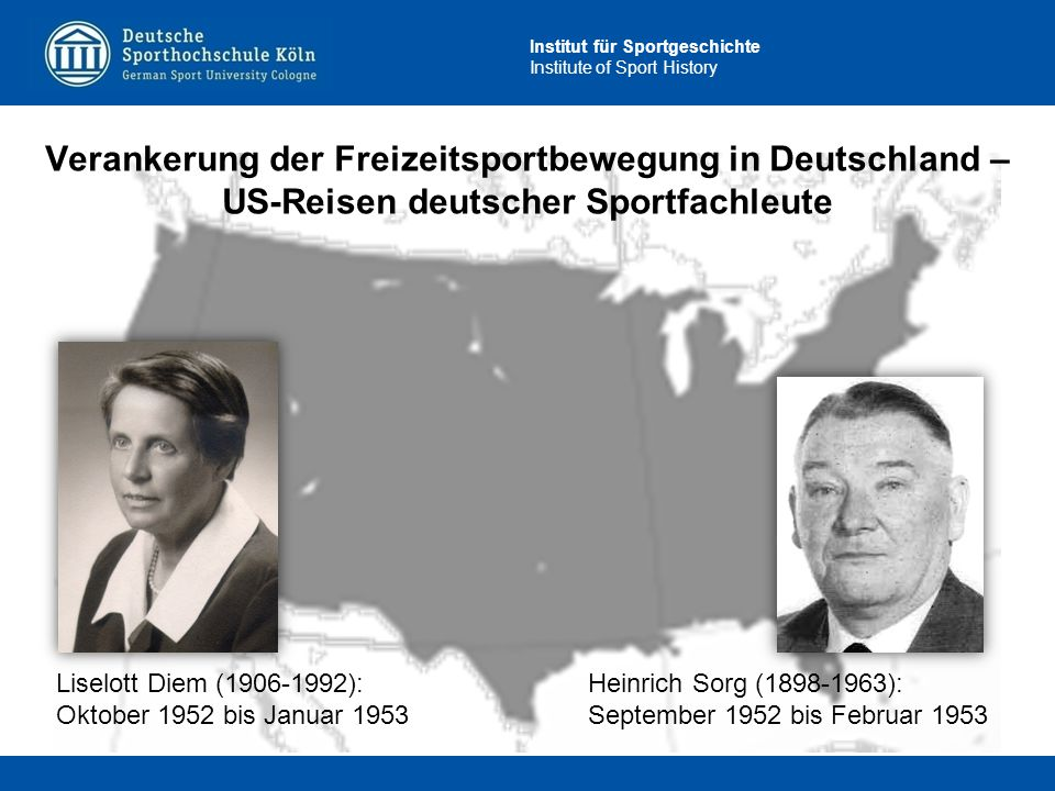 Verankerung der Freizeitsportbewegung in Deutschland – US-Reisen deutscher Sportfachleute