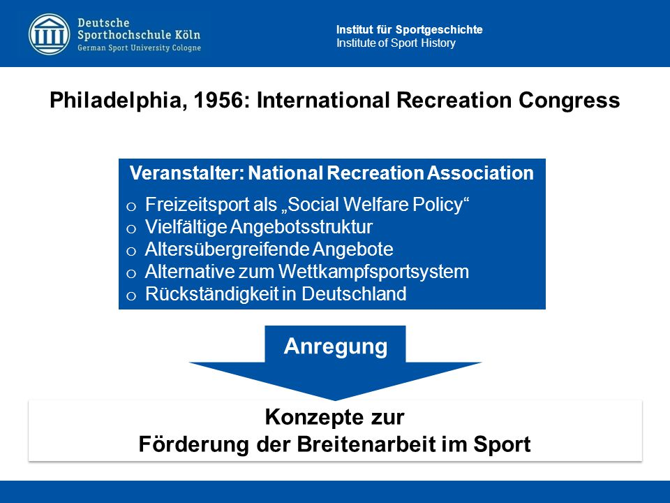 Philadelphia, 1956: International Recreation Congress