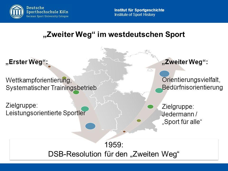 """""""Zweiter Weg im westdeutschen Sport"""