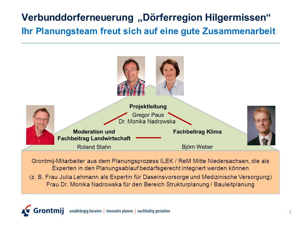 """Verbunddorferneuerung """"Dörferregion Hilgermissen Ihr Planungsteam freut sich auf eine gute Zusammenarbeit"""