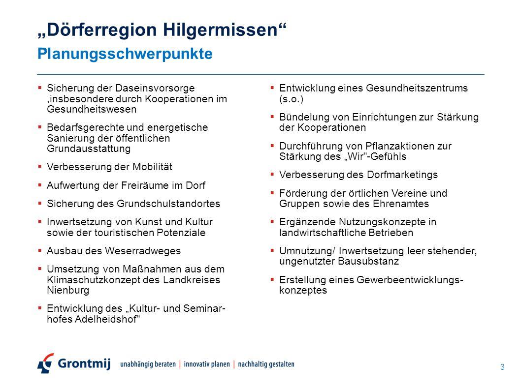 """""""Dörferregion Hilgermissen Planungsschwerpunkte"""