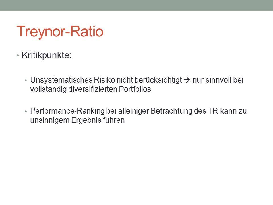 Treynor-Ratio Kritikpunkte: