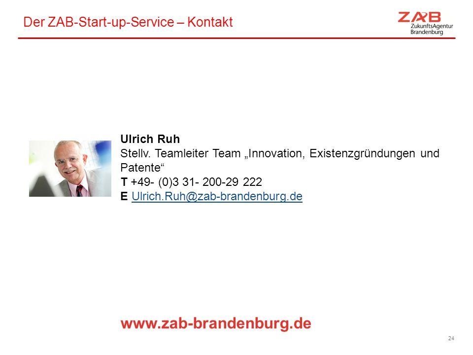 Der ZAB-Start-up-Service – Kontakt