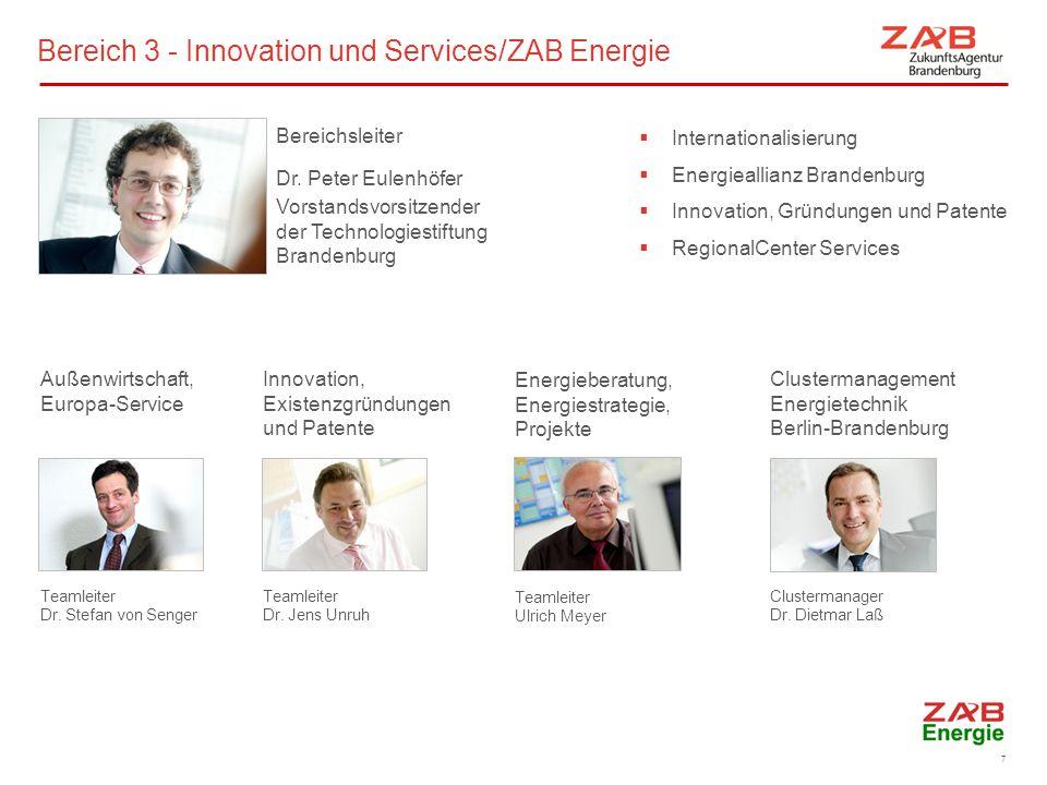Bereich 3 - Innovation und Services/ZAB Energie